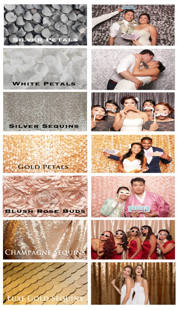 Photo Booth Backdrop Selections 2017