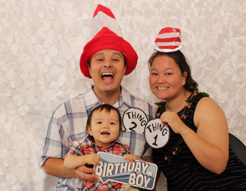 Fun birthday photo booth