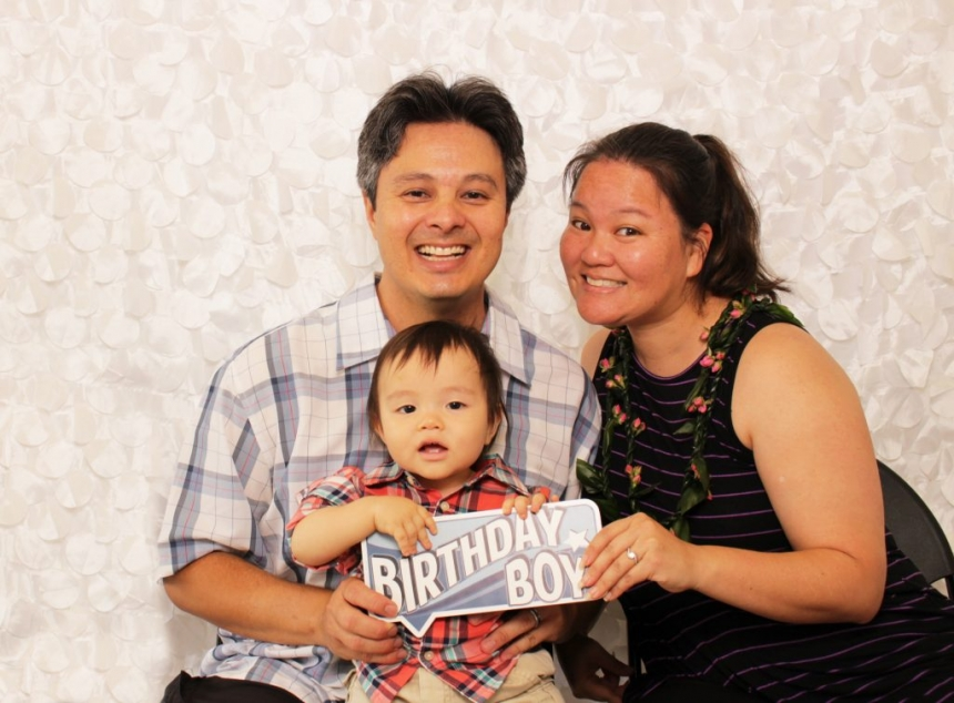 Fun birthday photo booth