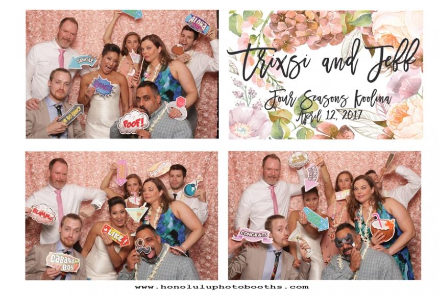 Four Seasons Ko Olina Wedding Photo Booth Rental Jacquelyn Esser Joseph Photography Best-2